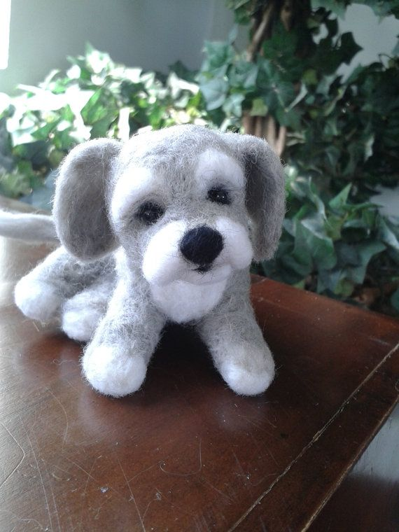 Needle Felted Animal Needle Felted Dog Felted by Made4ubyJackie