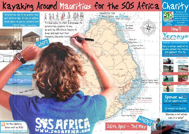 Claudia Titley #Kayaked around #Mauritius to raise £2000 for SOS Africa... #Inspirational #Fundraising #Challenges