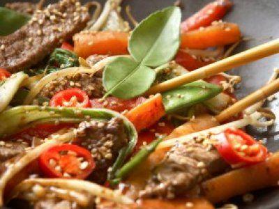 Receta de Carne y Verduras al Wok.