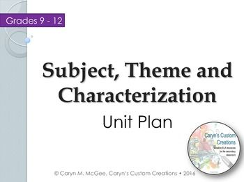 """Subject, Theme, and Characterization Analysis teaches students the differences between a theme and a subject as well as the two types of characterization (direct and indirect).In lesson one, students will take Cornell Notes on theme, subject, and characterization.In lesson two, students will analyze the subject, theme, and examples of direct and indirect characterization in the short story, """"Two Kinds"""" by Amy Tan.This resource includes: Two high-quality PowerPoint presentations Learning…"""