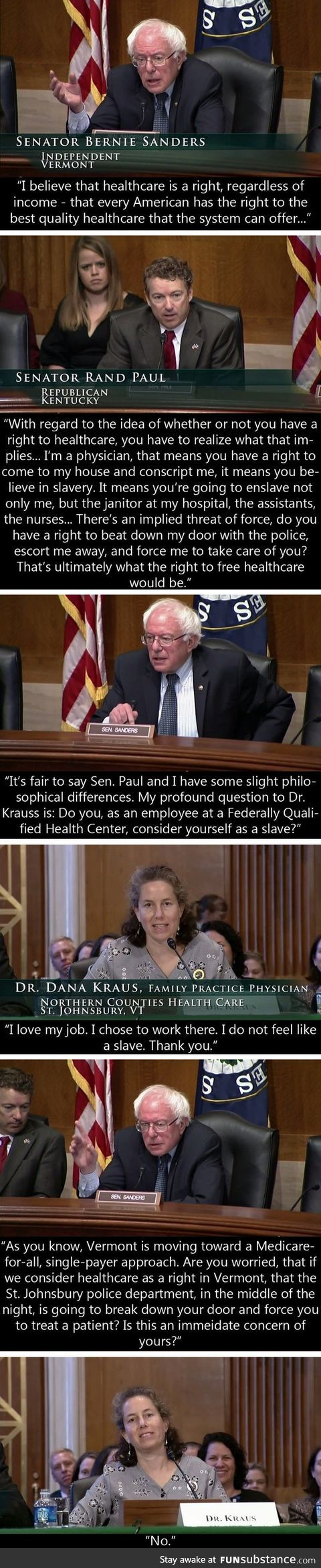 How the remarkable Mr Sanders keeps a straight face when dealing with idiots like Rand Paul only increases my admiration for him :)