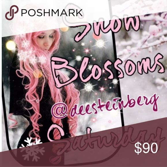 Saturday 9/24 snow blossoms ❄️Please share 5 Winter items from each closet. ❄️Choose from jackets, gloves, scarves, sweaters, jeans, boots, etc!  ❄️❄️Choose only one category❄️❄️ ❄️Share times 9am to 12midnight ❄️Sign up closes at noon Pacific (3ET)  ❄️Share before midnight your time ❄️Thanks and let's have fun sharing!                      If you have any questions please tag your hostess @deesteinberg and not the closet @hot_pink_mamas. Your comments might be missed. Thank you for joining…