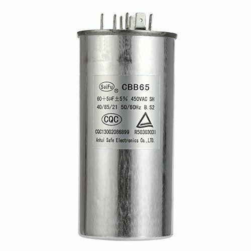 60 5 Mfd Uf Air Conditioner Capacitor Round Aluminum