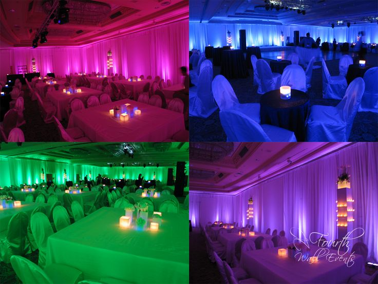 Lighting variations at disco party, Fairmont Southampton, Bermuda, Fourth Wall Events {Beaux & Belles blog}
