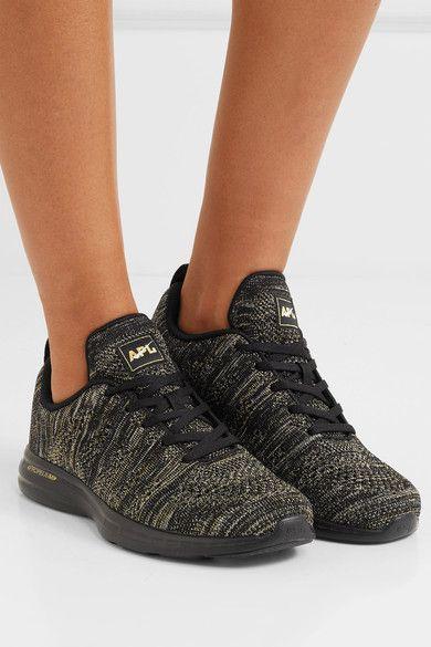 6b9ee140406d APL Athletic Propulsion Labs - Techloom Pro Metallic Mesh Sneakers - Black