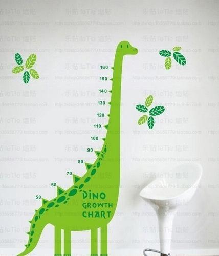Adesivo De Parede-régua Altura Bebê E Criança- Dinossauro