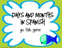 FREE Spanish Days and Months Go Fish Game as seen on High School Herd  www.highschoolherd.com