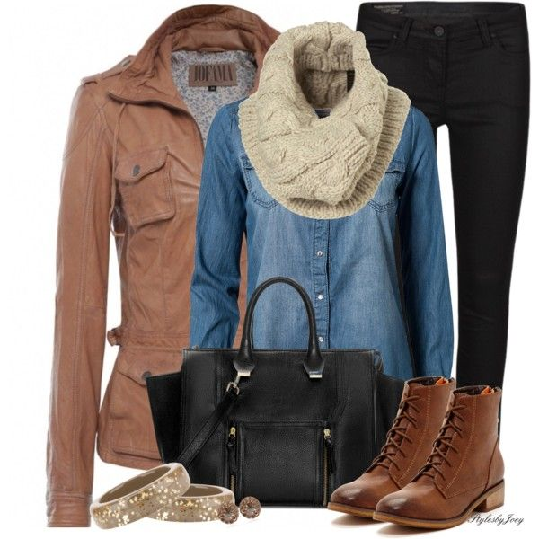 Winter OutfitFashion Outfit, Fall Style, Fallwinter Outfit, Denim Shirts, Fashionista Trends, Fall Winte, Fall Outfit, Work Outfit, Boots Outfit