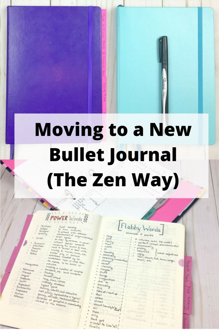 Tips for when you need a new bullet journal (Moving Bullet Journals The Zen Way)