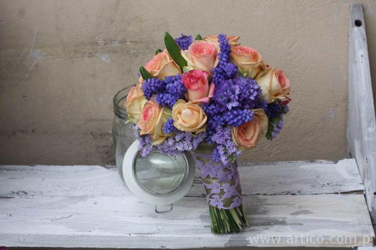 mały bukiet ślubny  www.artico.com.pl i www.facebook.com/artico.kwiaty  #kwiaty #bukiet #ślub #róże
