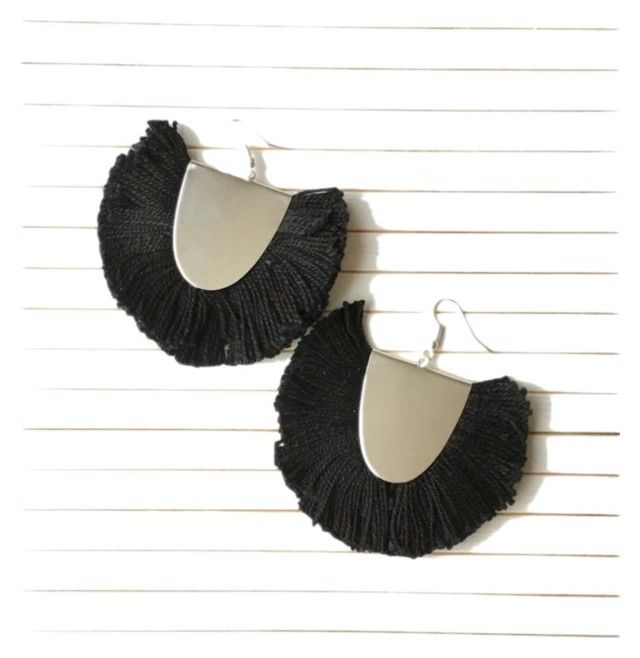 """Statement fringe earrings"""