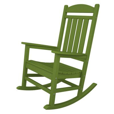 Outdoor POLYWOOD® Presidential Recycled Plastic Rocking Chair Lime - R100LI, Durable