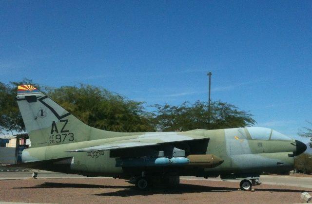 A-7D Corsair II S/N 70973 in Tucson, Arizona