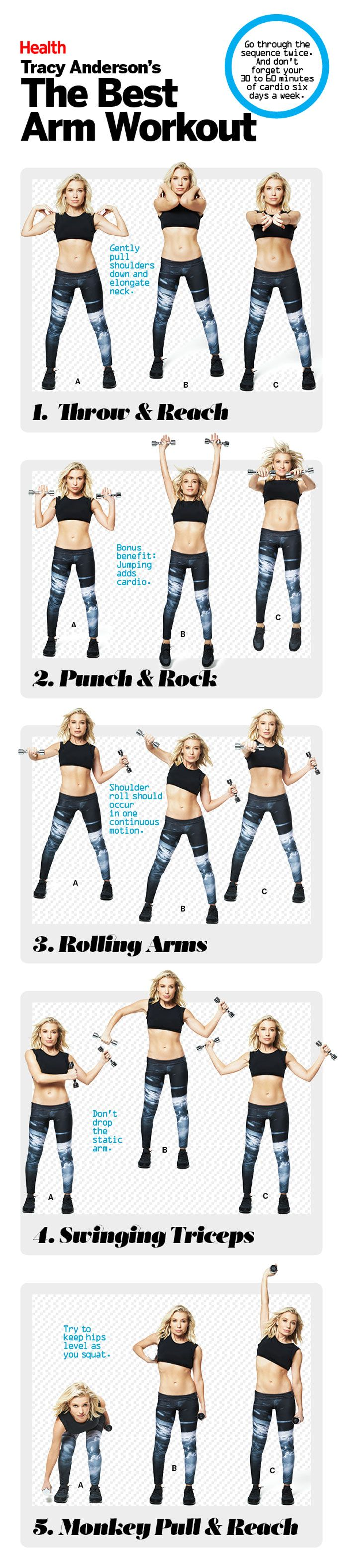 Get the biceps (and triceps and shoulders) you crave with this upper-body workout from celebrity trainer Tracy Anderson.