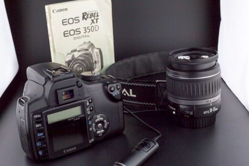 Canon  EOS 350D / Digital Rebel XT 8.0 MP Digital SLR Camera - Black (Kit w/... #Canon
