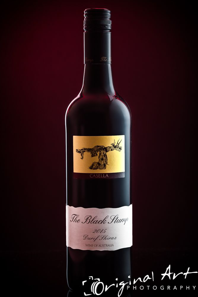 Red wine bottle - Black Stump #productphotography #stilllifephotography #wine #drink #alcohol #red