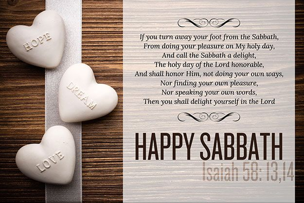 Isaiah 58:13-14 - Scripture Picture  WE are promised BLESSINGS for keeping HIS true Sabbath, and CURSES if we do not.