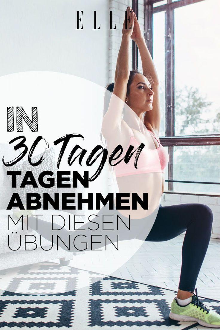 Mit diesen Übungen kannst du in 30 Tagen effektiv abnehmen – ELLE Germany