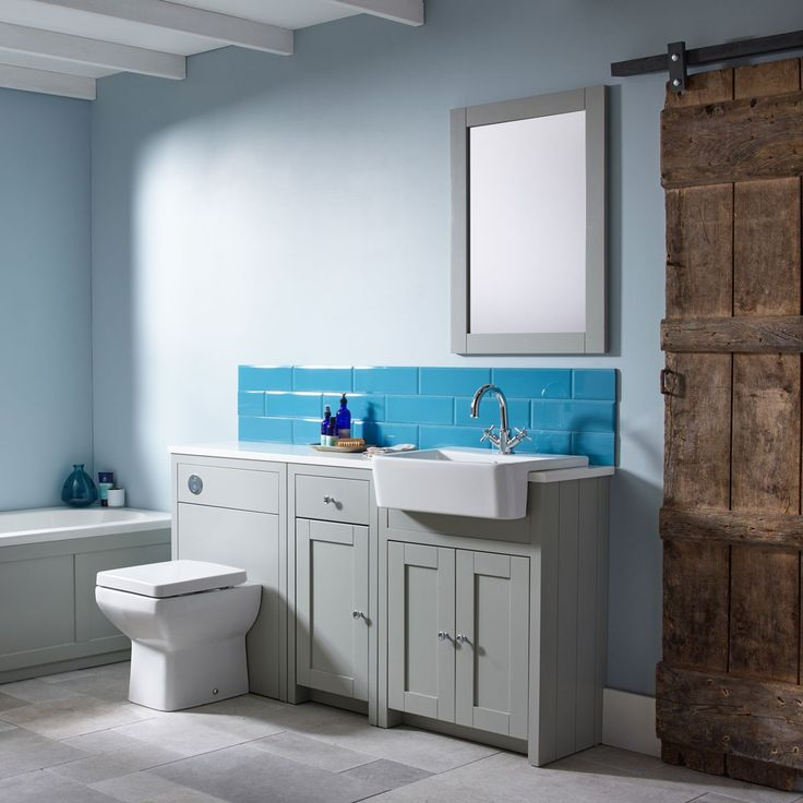 Tavistock Lansdown Back To Wall Toilet Unit Grey 600mm