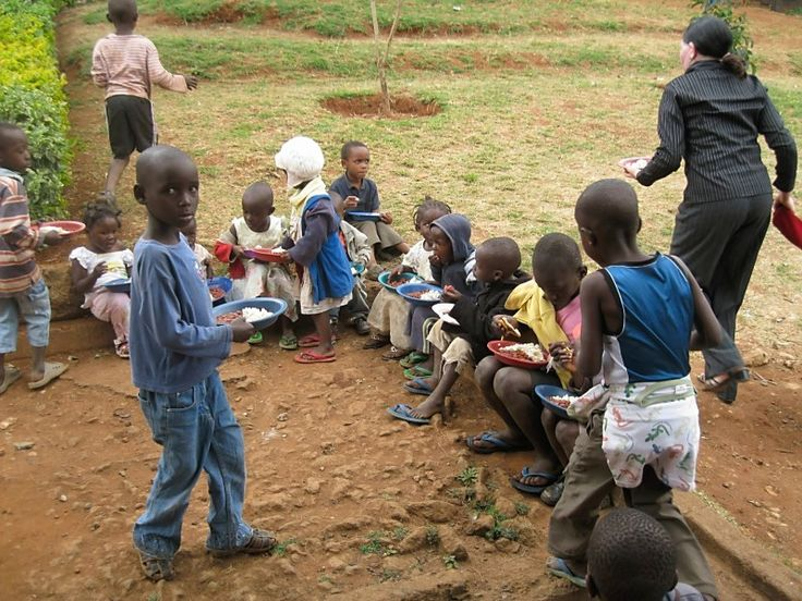 Lunch time is a highly anticipated event in Kibera, as for many children this is the only food they will have all day.