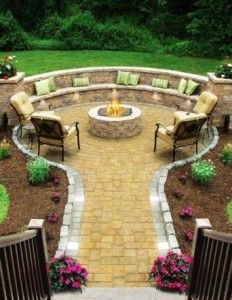 fire pit ideas pictures fire pit area 232x300 awesome ideas for your garden - Patio Ideas With Fire Pit On A Budget