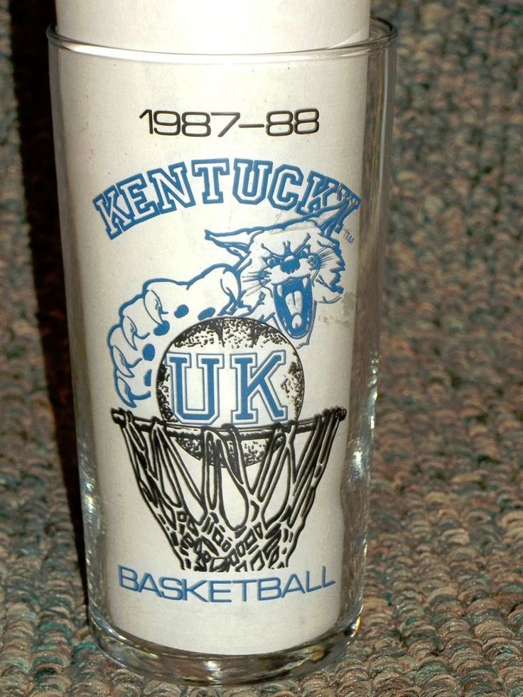 Vintage 1987-88 Kentucky Wildcats Basketball Schedule Glass UK KY lexington  #KentuckyWildcats