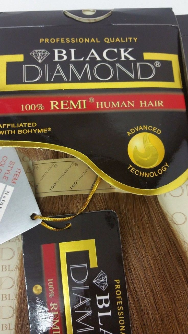"2 Packs of BLACK DIAMOND Bohyme NATURAL PERM 100% REMI Human Hair 10"" -#30"