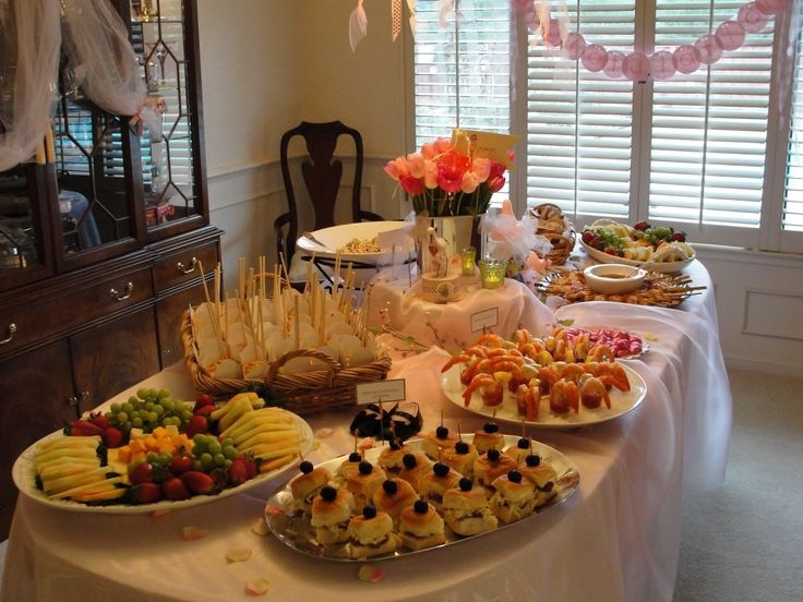 Baby shower buffet cocktails and catering food on pinterest for Buffet cuisine en pin