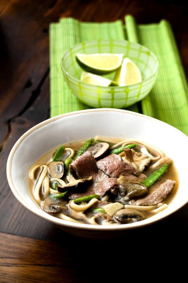 Japonská polévka s udon nudlemi