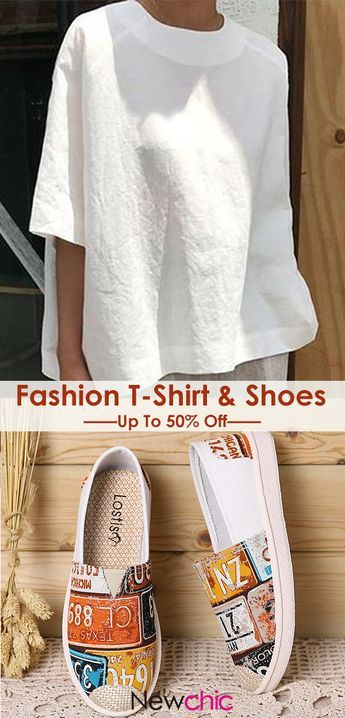 #Summer Outfit# Up To 50% Off Women Fashion Shirt & Shoes