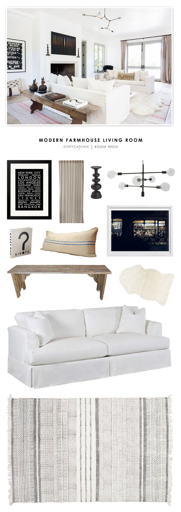Copy Cat Chic Room Redo | Modern Farmhouse Living Room