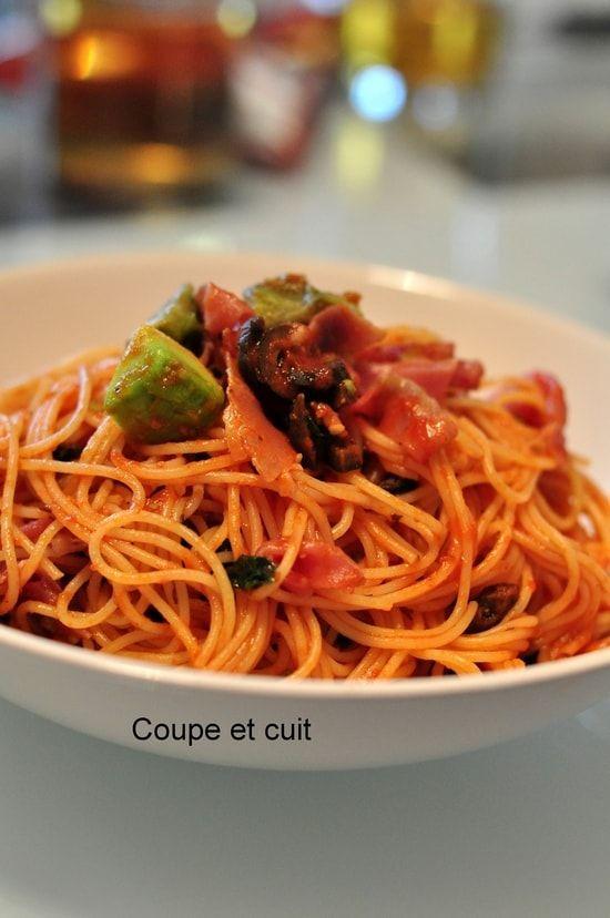 Recette de Capellini à la sauce tomate, avocat et jambon cru : la recette facile