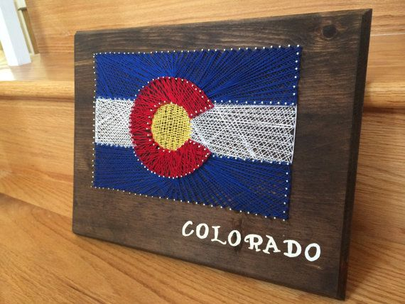 Colorado Flag String Art by BamberryBoutique on Etsy