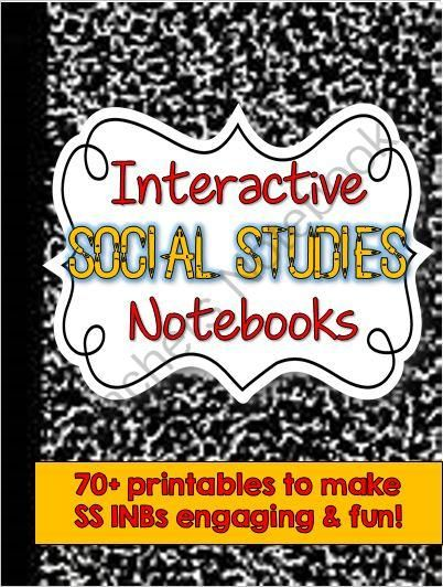 Interactive Social Studies Notebook Kit -- 70+ Printables and Activities from Brain Wrinkles on TeachersNotebook.com -  (85 pages)  - Interactive Social Studies Notebook Kit -- 70+ Printables and Activities