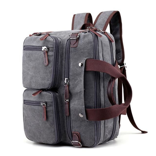 13 14 Inch Multi-Pocket Canvas Convertible Laptop Bag Case 15 Briefcase Backpack Laptop Messenger Bag For Macbook