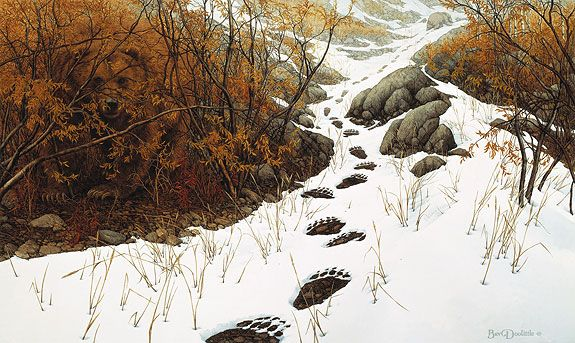 """Doubled Back"" is my favorite Bev Doolittle print.  Can you find the bear?"