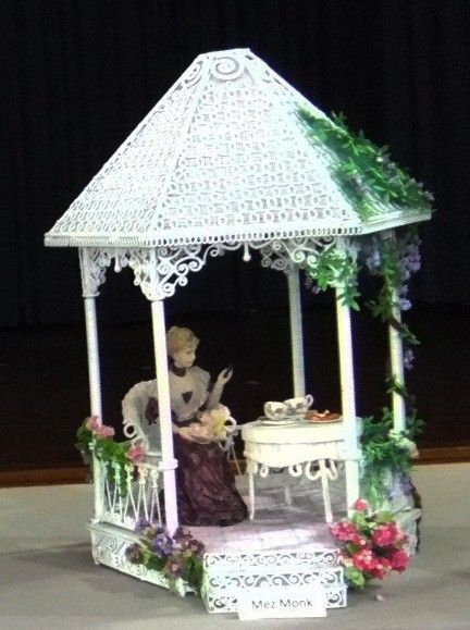 Gazebo by Mez, DAME miniatures show. Needs to be in it's garden.