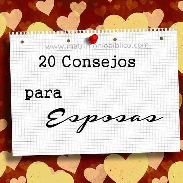 20 consejos para mujeres esposas jóvenes