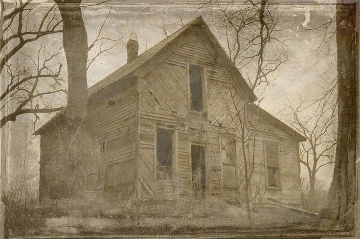 """Title: #031617 - Old Abandoned House Size: 10"""" x 15"""" (other larger sizes available - see sizing options above) Medium: Fine art giclee print on gallery wrapped canvas. Digitally manipulated old film p"""