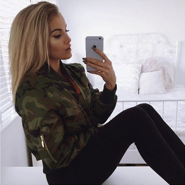 @sophierimmerr wears our DARA bomber jacket £23