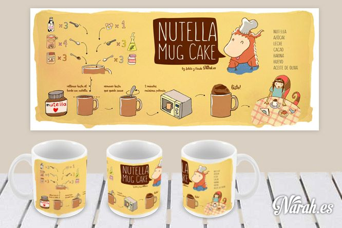 Tazarecetas Nutella Mug Cake (postre)
