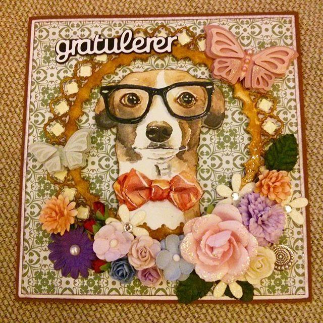 #birthday #card #dog #green #scarpbooking #scrapagram #birthdaycard #costumer #order