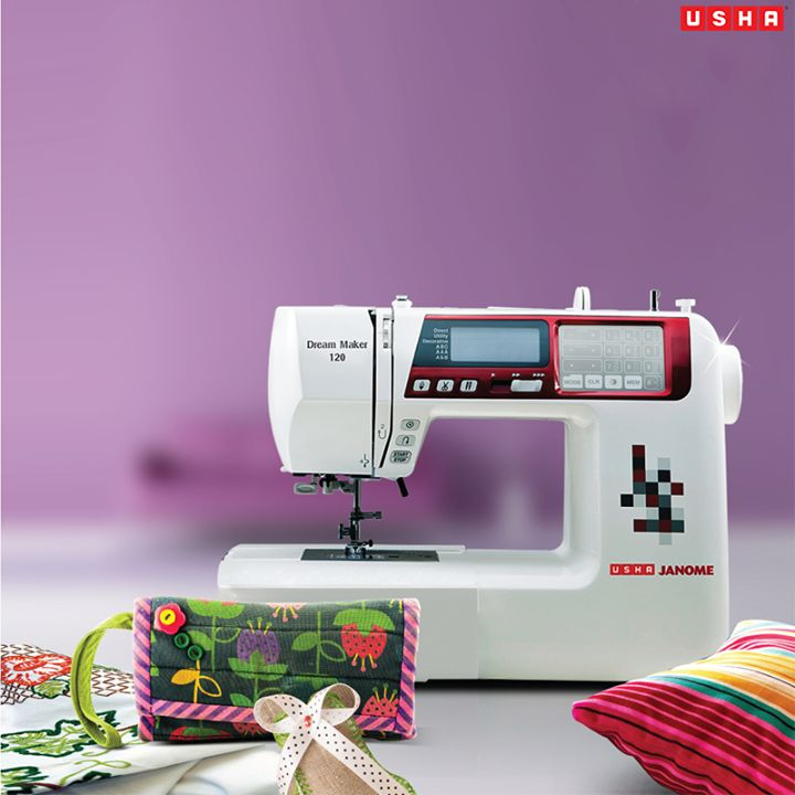 Get creative with Usha Janome Computerised Sewing Machines http://goo.gl/b0iTBp