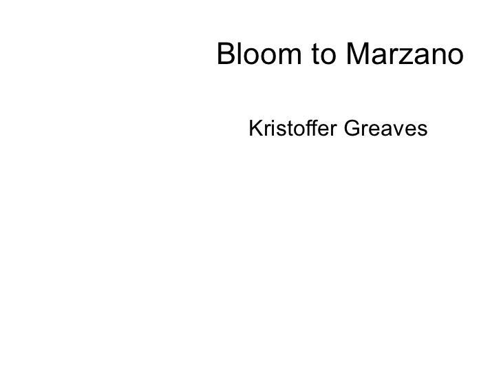 Bloom to Marzano - a new taxonomy of educational objectives for PLT?