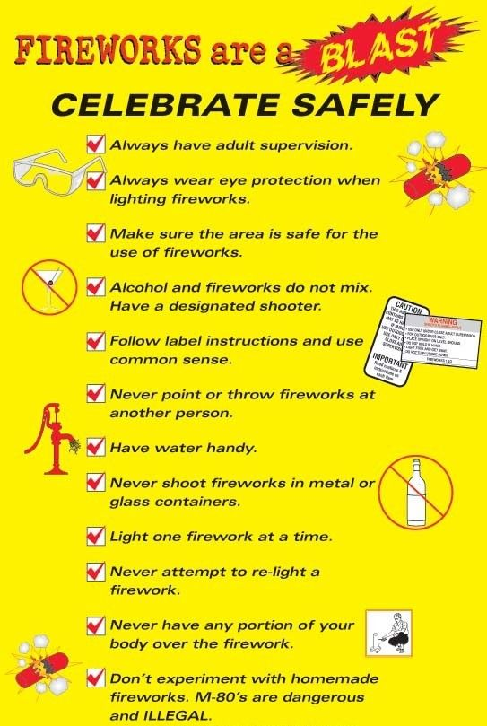 Fireworks safety for safety poster