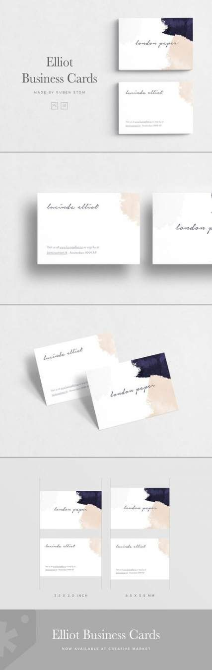 62 Trendy Business Cars Design Watercolor Fonts
