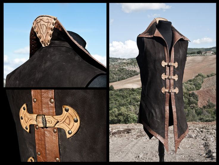 Leather tunic - nice solution for making the collar high