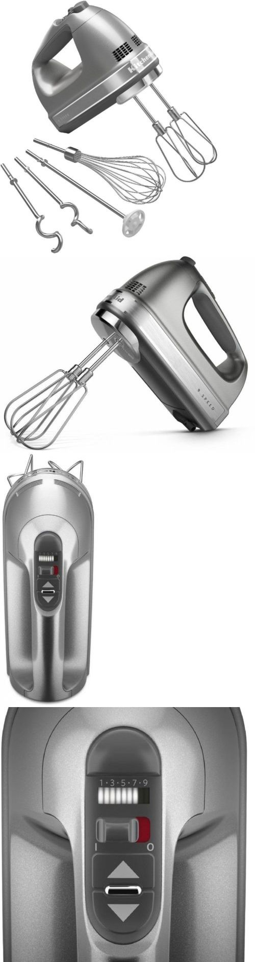 Mixers Handheld 133700: Kitchenaid 9-Speed Kitchen Hand Mixer W Turbo Beater Ii Accessories Contour -> BUY IT NOW ONLY: $113.95 on eBay!