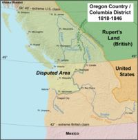 The Oregon Treaty between the UK and the US signed on June 15, 1846, in Washington, D.C. brought an end to the Oregon boundary dispute by settling competing American and British claims to the Oregon Country, which had been jointly occupied by both Britain and the U.S. since the Anglo-American Convention (Treaty) of 1818.