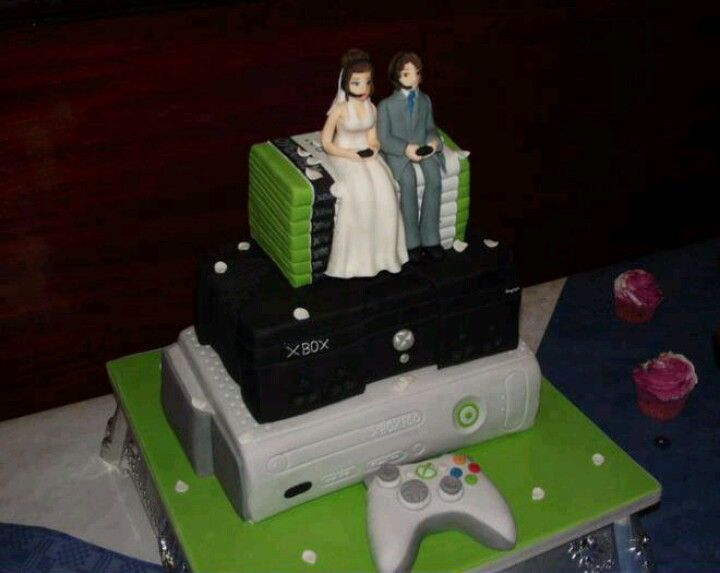 Xbox video game wedding cake